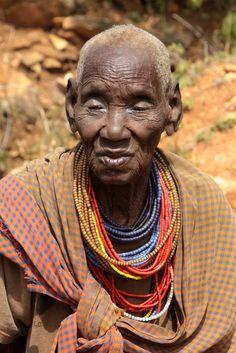 Africa | Old Tepeth woman.  Uganda | ©Walter Callens