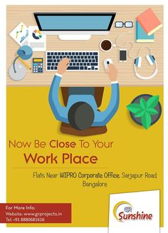 Now Be Close to your Work Place..  GR Sunshine is ongoing Project of GR Projects In #Sarjapur Road, Which is close Approximate to #WIPRO Corporate Office. Which Come with 1,2,3 BHK Flats.  #realestatebangalore #flatsinbangalore  To Know more (Or) Booking: Visit: http://grprojects.in/apartments/sunshine/ (Or) Call: +91 8880681616