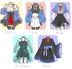 Fashion Design Drawings, Fashion Sketches, Kleidung Design, Jugend Mode Outfits, Drawing Anime Clothes, Manga Clothes, Clothing Sketches, Dress Sketches, Anime Dress