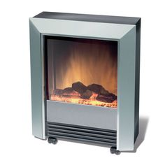 Solid clean lines, a contemporary silver finish, castors and carry handles for easy portability. These characteristics define our Lee Silver Electric Heater with Optiflame log effect. Portable Electric Fireplace, Electric Fireplace Heater, Heat Energy, Home Fireplace, Fireplaces, Electric Fires, Outdoor Storage, Keep It Cleaner, The Help