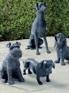 Crafted from durable aluminum, our Dog Sculptures are a great addition to any dog lover's indoor or outdoor decor-either solo or paired with one of our other adorable canine statues. Dog Sculpture, Sculptures, World's Most Beautiful, Four Legged, Decorative Accessories, Dachshund, Statues, French Bulldog, Outdoor Decor