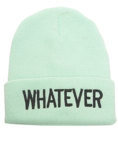 Speak your mind with this soft beanie featuring different sayings inspired by the 90s embroidered on the adjustable cuff. Beanie has a stylishly snug fit.  100% Acrylic     Hand Wash     Imported