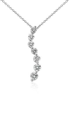 Journey Diamond Pendant | Click for your chance to win a $1000 gift card from #BlueNile!