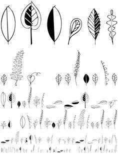 Leaf Doodles font > FontHaus