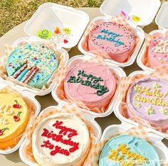 Pretty Birthday Cakes, Pretty Cakes, Beautiful Cakes, Cake Birthday, Picnic Cake, Pastel Cakes, Colorful Cakes, Simple Cake Designs, Korean Cake