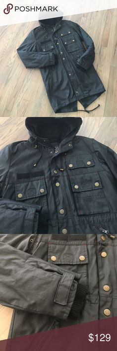 Comune waxed cotton denim jacket This jacket is soooo cool! It's lined, but you can remove the lining when it gets warmer and use it as a lightweight spring coat. COMUNE Jackets & Coats