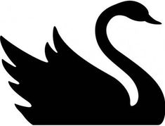 Black swan clipart clipartfest A selection of bird photos Stencil Patterns, Stencil Designs, Painting Patterns, Swan Drawing, Cloud Drawing, Silhouette Images, Animal Silhouette, Art Plastic, Swan Painting