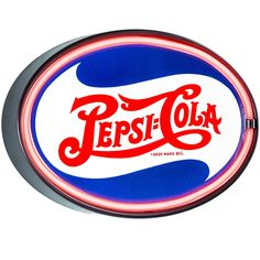 American Art Decor Vintage Pepsi Cola Oval Shaped LED Light Up Sign Wall Decor for Man Cave Bar Garage, Multi (Plastic) Red Led Lights, Led Rope Lights, Pepsi Logo, Ultimate Man Cave, Man Cave Basement, Light Up Signs, Marquee Sign, Man Cave Home Bar, Garage Signs