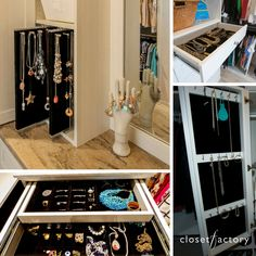 Jewelry Drawer Closet Accessories Custom Closets Organization Drawers Cabinetry Pull Out Set Of