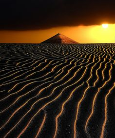 Sunsetting on the Desert - null