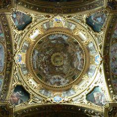 Dome, 1635-1638, fresco, Santissima Annunziata del Vastato, Genoa.- Bernardo Strozzi