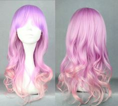 Medium Long Pink and Purple Ombre Wig, Gradient Cosplay Wig, Pastel Pink and Purple Wig, Kawaii Lolita Wig, Anime Fashion Wig on Etsy, 236:26 kr