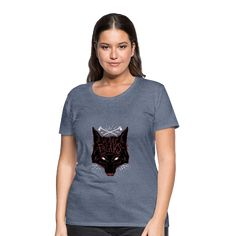 Geschenke Shop   We are freaks Wolf - Frauen Premium T-Shirt Adventure 4x4, Viscose Fabric, Shirt Outfit, Funny Tshirts, Fabric Weights, Heather Grey, T Shirts For Women, Tees, Wolf