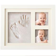 Bubzi Co Baby Handprint and Footprint Air-Drying Clay Frame DIY Kit - White