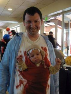 Chest bursting alien babywearing costume!-- @Beth richards!