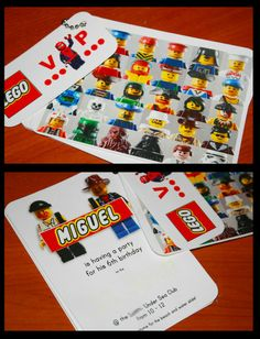 Invitations - this has got to be one of my favourites!  Cleo Livin' life: LEGO BIRTHDAY PARTY