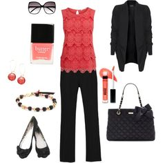 Black and coral