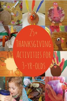 25 Thanksgiving Activities For Three-Year Olds and older...