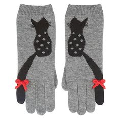 Alice Hannah Flossy Cat Gloves - Luxury Knitted Jaquard Gloves