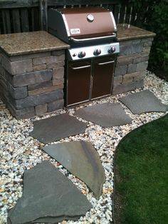 Small Outdoor Grill Ideas 13 Backyard Grill Station In 2019 intended for 12 Genius Ways How to Craft Backyard Grill Ideas Outdoor Grill Area, Outdoor Grill Station, Outside Grill, Patio Grill, Backyard Patio, Backyard Landscaping, Outdoor Spaces, Outdoor Decor, Outdoor Living