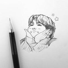 boi this is the best hoseok drawing in existence Kpop Drawings, Pencil Art Drawings, Art Drawings Sketches, Sketch Drawing, Drawing Eyes, Drawing Art, Kpop Fanart, Wie Zeichnet Man Manga, Bts Chibi