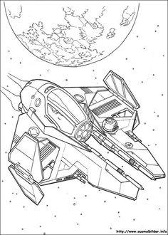 Ausmalbilder Star Wars Raumschiffe