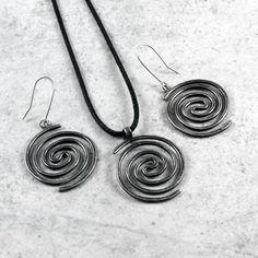Swirls - silver jewelry by Caltha Jewelry #silver #jewelry #earrings #pendant