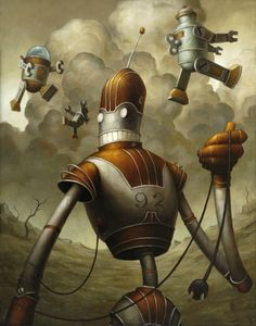 Robot Art by Brian Despain Arte Robot, Robot Art, Steampunk, Science Fiction, Robot Illustration, Retro Robot, Digital Art Gallery, Ghost Pictures, Ex Machina