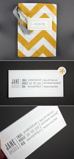 These are the designers that inspire me most- great color treatment, clean lines and simple type. Go Jane, go!