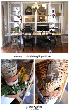Ikea GORM. The PERFECT shelving kit for the non builder. And 4 ways I've used it in my home. via Funky Junk Interiors