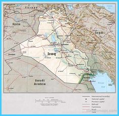 awesome Map of Iraq