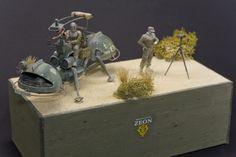 UC HARD GRAPH Zeon Mobile Scout diorama 1/35 by Nino (www.hangar-mk.fr)