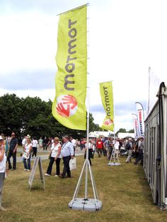 Freestanding water based telescopic flag pole for events #event branding ww.discountdisplays.co.uk