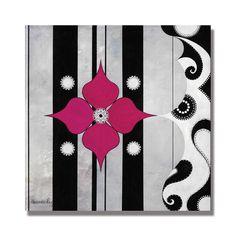 "Trademark Fine Art Alexandra Rey 'Lotus' 18"" x 18"" Canvas Art"