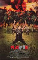 Platoon - US One Sheet - A film directed by Oliver Stone and stars Charlie Sheen, Willem Dafoe, Tom Berenger, Richard Edson, Keith David and Forest Whitaker 80s Movie Posters, Classic Movie Posters, Cinema Posters, Movie Poster Art, Tom Berenger, Films Cinema, Cinema Tv, Classic 80s Movies, Vintage Movies