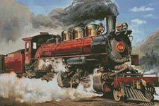 80f2df587d2 Locomotive - Cross Stitch Chart   Artecy Cross Stitch Shop