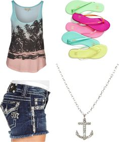 """""""beach outfit"""" by ashlyndancer ❤ liked on Polyvore"""