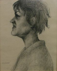 ŠIMOTOVÁ Adriena (*1926): Portrét přítelkyně. New Art, Artist, Artwork, Painting, Work Of Art, Auguste Rodin Artwork, Artists, Painting Art, Artworks