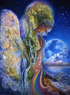 """""""Sadness of Gaia"""" by Josephine Wall, Carolyn Emerick @ http://carolynemerick.hubpages.com/hub/Mother-Goddesses-from-World-Religions"""