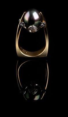 Black South Sea Pearl Ring PR-603