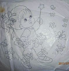 Baby Embroidery, Embroidery Patterns, Tole Painting, Fabric Painting, Doll Patterns, Quilt Patterns, Wall Stickers Girl Room, Coloring Books, Coloring Pages