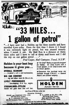 From the 7 September 1950 edition of Sydney Morning Herald. Australian Vintage, Australian Cars, Holden Australia, Cookbook Ideas, Advertising, Ads, Car Show, Concept Cars, Muscles
