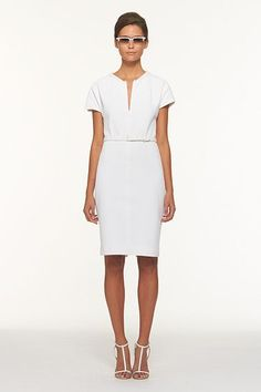 I like this white dress- it is not see through, just wished it was below the knee
