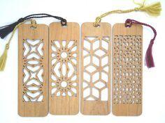 4 Custom Laser Cut Wooden Bookmarks