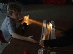 """""""Mirrors and Mazes"""" engages students in an exciting light-maze challenge while testing their understanding of reflection and how light travels. Fabulous activity to wrap up a light unit or integrate more exploratory learning into your physical science lessons! Links to handout for higher level elementary students can be found in the blog post."""