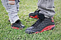 I like it. Father and son black jordan
