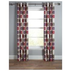 Buy Tesco Saturn Unlined Eyelet Curtain 66X54 Red/Plum from our Eyelet Curtains range - Tesco.com