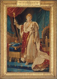 After a painting by baron François Gérard (French,  1770–1837). Portrait of Napoleon I, designed 1805, woven 1808–11. The Metropolitan Museum of Art, New York. Purchase, Joseph Pulitzer Bequest, 1943 (43.99) | In 1808, Napoleon ordered the imperial tapestry works to execute a woven copy of his favorite portrait, aligning himself with the royal tradition of tapestry patronage that extends back to the Middle Ages. #tapestrytuesday