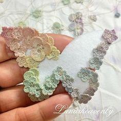 ► Brooch in butterfly shape - LunarHeavenly (Crochet Pattern Free)