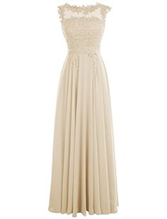 Cheap Dressystar Long Bridesmaid Chiffon Prom Dresses Scoop Gowns with  Appliques V Back Size 16 Blush Deals Week 8ef0566410f7